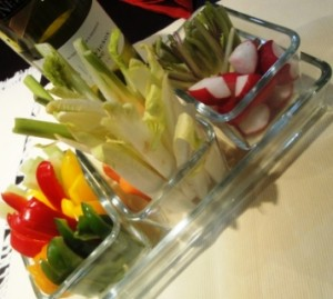 Accompanying crudites