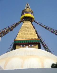 Bodhnath's giant Buddhist stupa