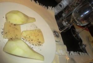 Chef Maurizio's pecorino miele e pere