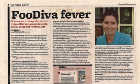 Khaleej Times interviews FooDiva