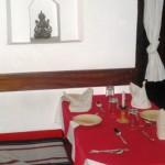 Traditional Newari restaurant seating