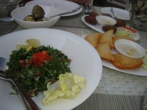 Arabic mezze starters