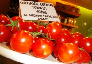 Home-grown tomatoes