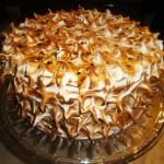Lemon passion meringue cake