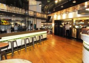 Jamie's Italian - bar and open plan kitchen