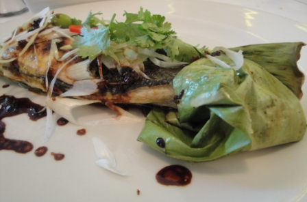 The Ivy's Thai-baked sea bass
