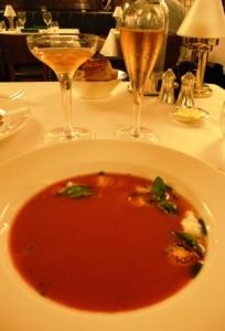 Iced plum tomato soup