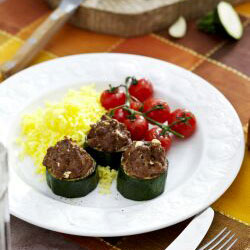 Philips AirFryer - courgettes stuffed with mince beef and fetta