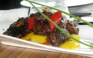 Wok-fried black pepper beef