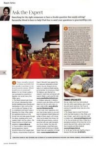 Gourmet expert column - November