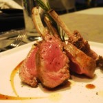 Lamb chops with artichoke and fingerling potatoes