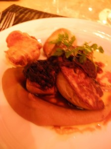 Seared foie gras with Yorkshire pudding