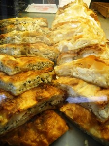 Greek-inspired filo pastry pies