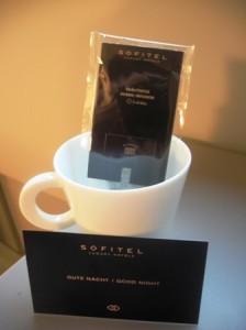 Sleep tight tea from Sofitel Vienna Stephandsom