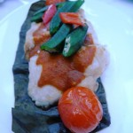 Steamed red snapper with Assam sauce