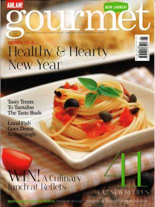 Gourmet - January 2012 cover
