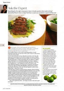 Gourmet January - expert column