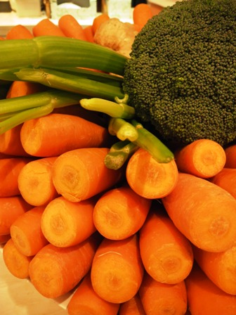 Vegetables in FooDiva's juice