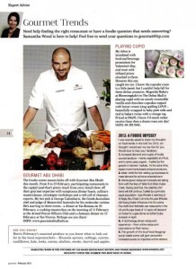 Gourmet February Expert Column