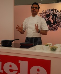 Atul Kochhar in Miele action at Taste of Dubai