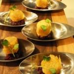 Lafayette Gourmet - foie gras & cranberry canapes