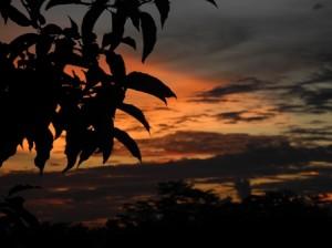 A thundery sunset