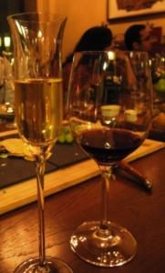 Asado wine tasting