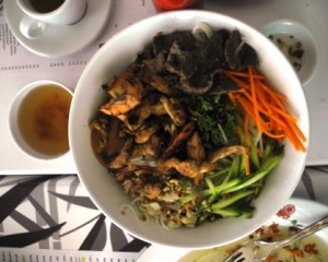 Bun Dac Biet - special mixed salad served with a Nuoc Cham fish sauce