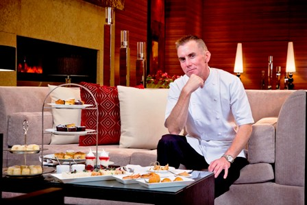 Gary Rhodes over afternoon tea at Rhodes in Residence