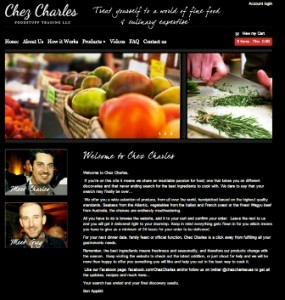 Chez Charles gourmet grocery website