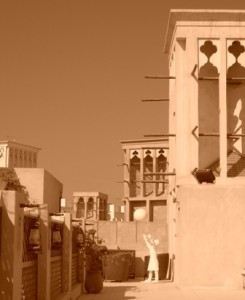 Bastakiya - traditional wind towers that top XVA gallery & guest house