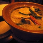 Thai green chicken curry with sticky rice