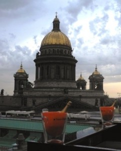 View of St Isaac's Cathedral from Mixup terrace