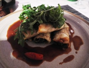 Goats cheese parcels