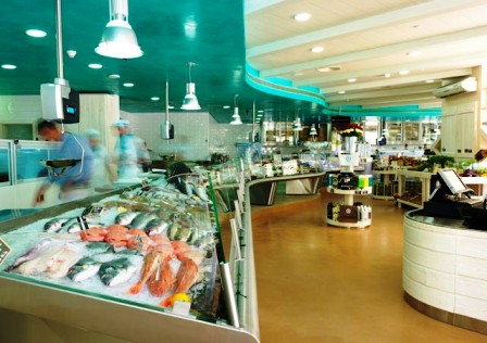 Fresh fish counter