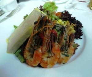 Foie gras terrine salad