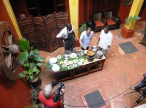 Chef, restaurateur and TV presenter Reza Mahammad filming Food Network in my hotel!