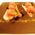 Rhubarb jelly dessert