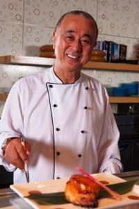 Chef Nobu at his Atlantis Dubai restaurant