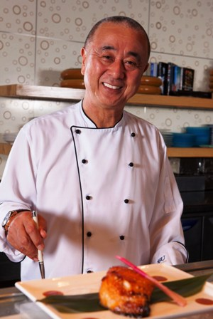 Chef Nobu at his Atlantis Dubai restaurant