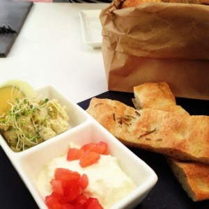 Foccacia and dips