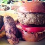 Canadian Black Angus burger and sausages