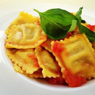 Home-made beef ravioli