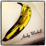Prelude to Andy Warhol Banana inspired dessert