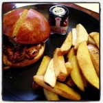 Blue cheese buffalo chicken burger