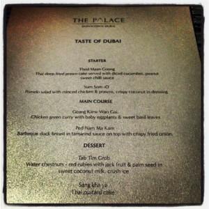 Thiptara menu at Taste of Dubai