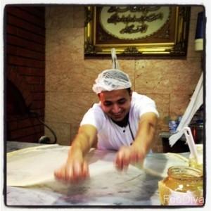 Egyptian feteer tossing