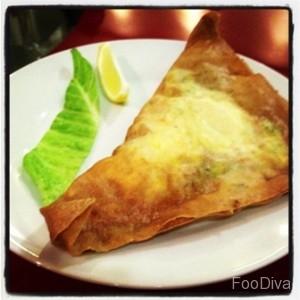 Tunisian deep-fried brik pastry