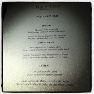 Asado menu at Taste of Dubai