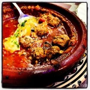 Moroccan kofta meatball and egg tagine